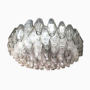 Murano Glas Deckenlampe von Carlo Scarpa für Venini, Italien, 1960er