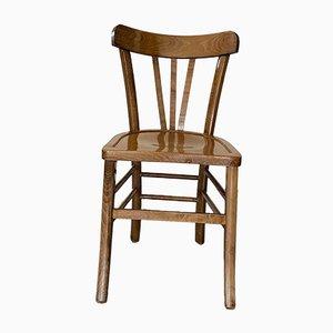 Art Deco Beech Bistro Chairs, Set of 6