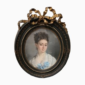 Pastel Napoleon III Portrait of Woman
