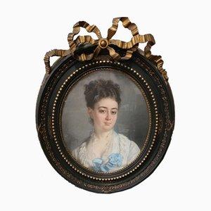 Pastell Napoleon III Portrait einer Frau