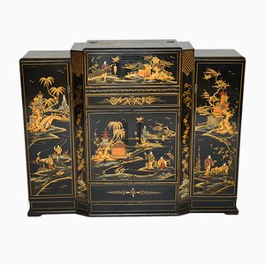 Art Deco Lacquered Chinoiserie Drinks Cabinet or Sideboard