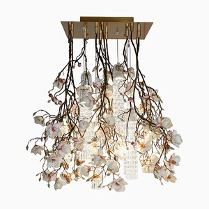Flower Power Pink-Cream Magnolia Chandelier from Vgnewtrend, Italy