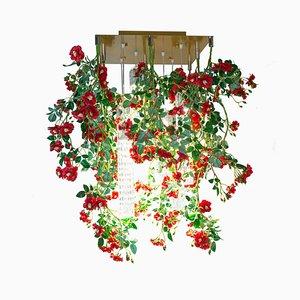 Flower Power Wild Red Roses Square Kronleuchter von Vgnewtrend, Italien
