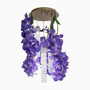 Flower Power Vanda Small Round Chandelier from Vgnewtrend, Italy