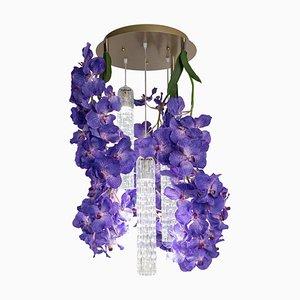 Kleiner runder Flower Power Vanda Kronleuchter von Vgnewtrend, Italien