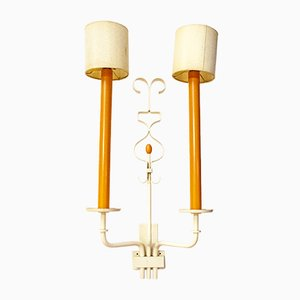 Brass and Paper Wall Sconce from Stilnovo, Italy, 1950s