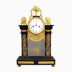 18th-Century Gilt Bronze and Marble Clock