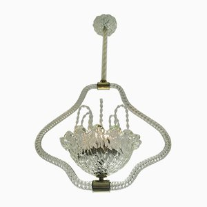 Fountain Chandelier by Ercole Barovier, 1940s