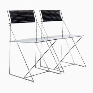 X-Line Chairs by Niels Jorgen Haugesen for Magis, Set of 2