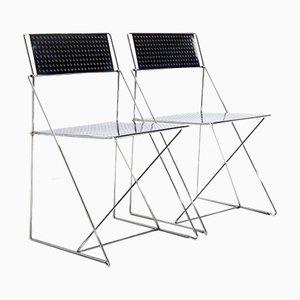 X-Line Stühle von Niels Jorgen Haugesen für Magis, 2er Set