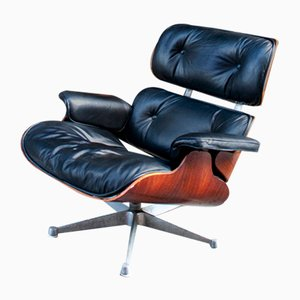 Lounge Chair in Wood and Leather from ICF De Padova, 1980s