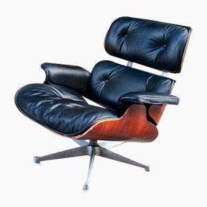 Sessel aus Holz & Leder von ICF De Padova, 1980er