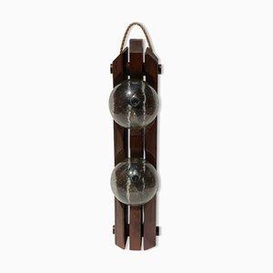Holz Steh- oder Hängelampe von Temde