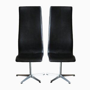 Scandinavian Swivel Chairs by Arne Jacobsen for Fritz Hansen, 1960s, Set of 2