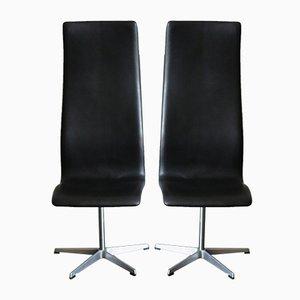 Sedie girevoli di Arne Jacobsen per Fritz Hansen, Scandinavia, anni '60, set di 2