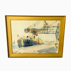 Large Framed Watercolour by Ralph Hartley