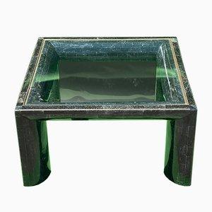 Mesa de centro teselada de piedra negra de Maitland Smith, años 70