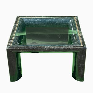 Tessellated Black Stone Coffee Table by Maitland Smith, 1970s