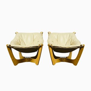 Vintage Luna Sling Chairs by Odd Knutsen, Set of 2