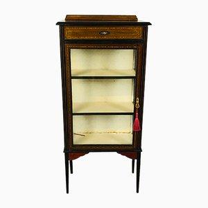English Edwardian Mahogany Glazed Display Cabinet, 1900s