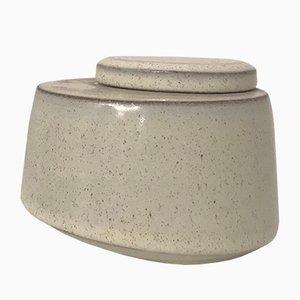 Ceramic Geometric Box by Jean Fradin