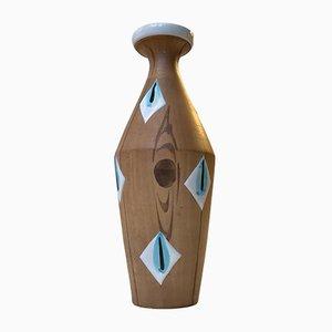 Moderne italienische Keramikvase von Fiamma, 1960er