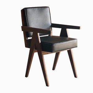 Modell Pj-010803 Armlehnstühle von Pierre Jeanneret, 1960er, 10er Set