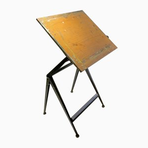 Vintage Dutch Industrial Drawing Table by Friso Kramer for Ahrend Circle