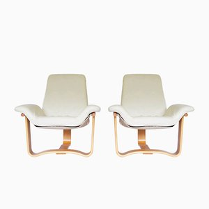 Vintage Scandinavian Manta Lounge Chairs by Ingmar Relling for Westnofa, Norway, 1970s, Set of 2