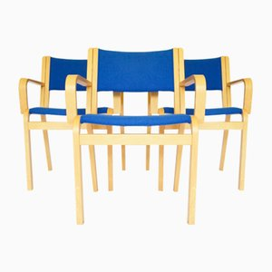 Mid-Century Dining Chairs by Rud Thygesen Johnny Sørensen for Magnus Olesen, Denmark, 1960s, Set of 3