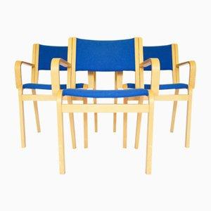 Mid-Century Esszimmerstühle von Rud Thygesen Johnny Sørensen für Magnus Olesen, Denmark, 1960er, 3er Set