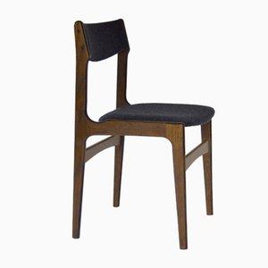 Vintage Esszimmerstühle aus Filz & Nussholz von Erik Buch für OD Møbler, Dänemark, 1960er, 4er Set