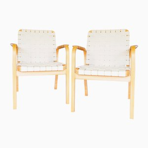 Chaises de Salle à Manger Modèle 45 Vintage par Alvar Aalto pour Artek, 1960s, Set de 2