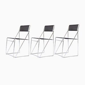 Vintage Nuova X-Line Stühle von Niels Jørgen Haugesen für Hybodan AS, Denmark 1970er, 3er Set