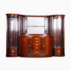 Czech Art Deco Rosewood Cabinet, 1920s