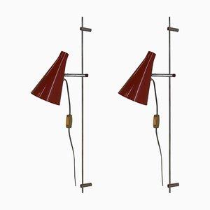 Wall Lamps by Josef Hurka, 1960s, Set of 2