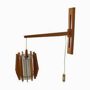Mid-Century Adjustable Wall Lamp by Drevo Humpolec, 1960s