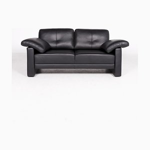 Black Leather Sofa from Brühl & Sippold