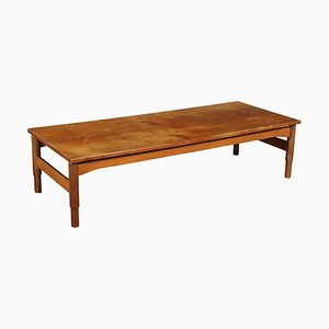 Solid Wood Table with Teak Veneer, Italy 1960s from Saporiti Italia, Italy, 1960s