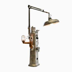Zahnarzt Schrank in industrielle Lampe verwandelt