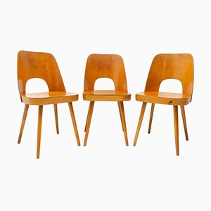 Mid-Century Dining Chairs Designed by Radomír Hofman for Ton, 1960s, Set of 3
