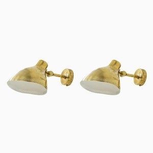 Brass Wall Lamps from Asea, Set of 2