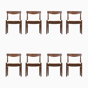 Dänische Esszimmerstühle, 1950er, 8er Set