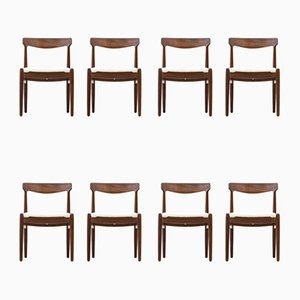 Danish Dining Chairs, 1950s, Set of 8