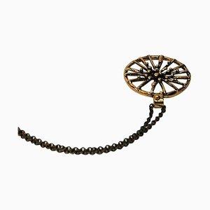 Runde Vintage Bronze Halskette von Christer Tonnby, 1980er, Schweden