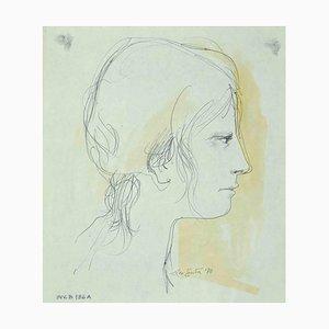 Leo Guide, Portrait, Zeichnung, 1970