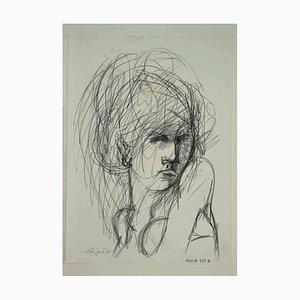 Leo Guide, Portrait, Drawing, 1965