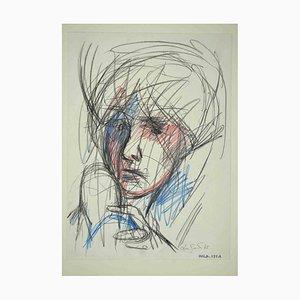 Leo Guide, Portrait, Zeichnung, 1965