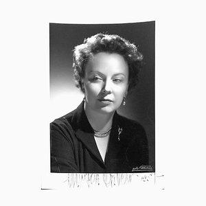 Unbekannt, Magda Olivero Autogrammkarte, 1961