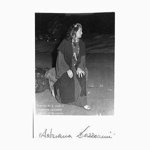 Unknown, Adriana Lazzarini Autographed Photocard, 1970
